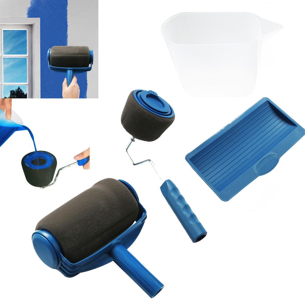 paint roller pro edger brush handle room wall painting runner roller brush ebay. Black Bedroom Furniture Sets. Home Design Ideas