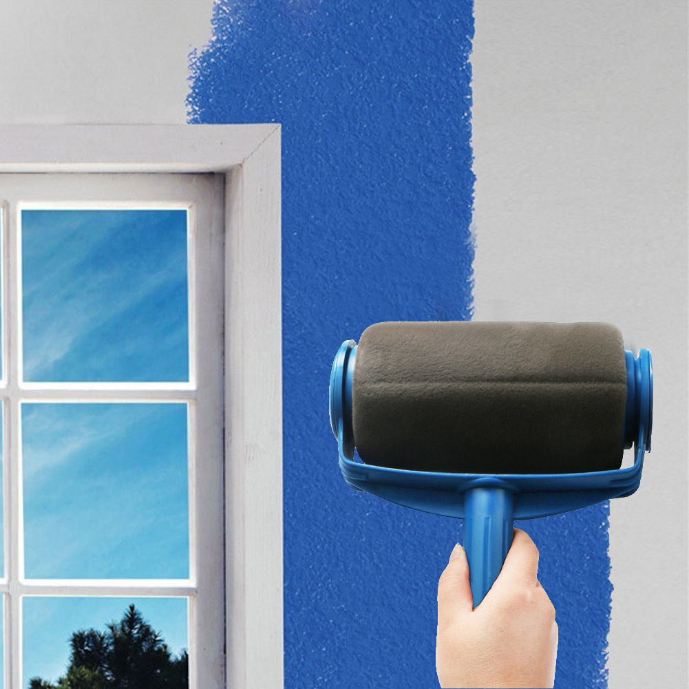 paint roller pro edger brush handle room wall painting runner roller brush ebay. Black Bedroom Furniture Sets. Home Design Ideas