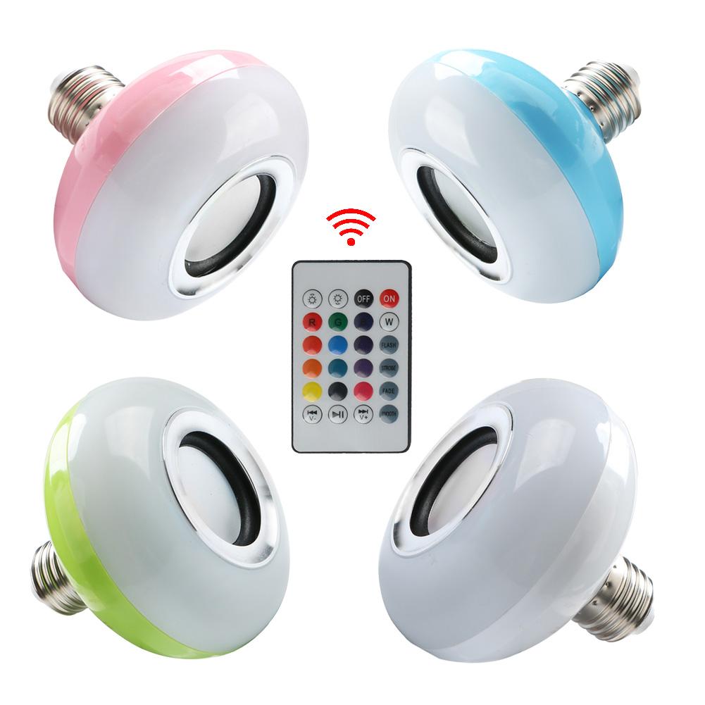 Mini E27 LED RGBW Wireless Bluetooth AudioSpeaker SmartMusic LightLamp Bulb