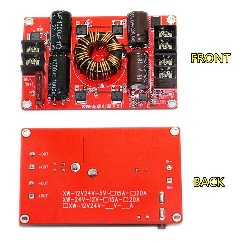 DC12V/24V To DC5V 25A 125W Step Down Power Supply Converter Regulator Modul