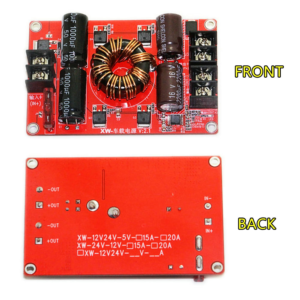 DC12V/24V To DC5V 15A 75W Step Down Power Supply Converter Regulator Module