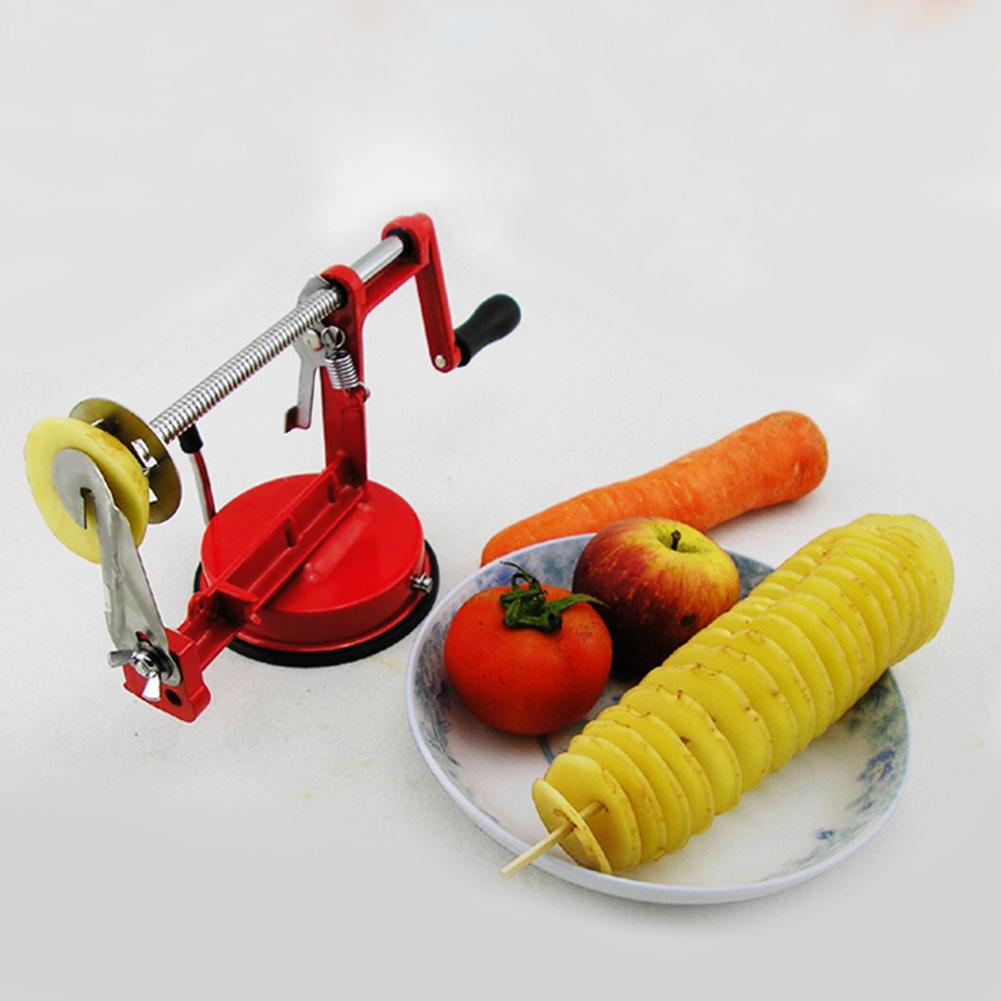 Multifunction Stainless Steel Manual Rotation Potato Fruit Vegetable Slicer