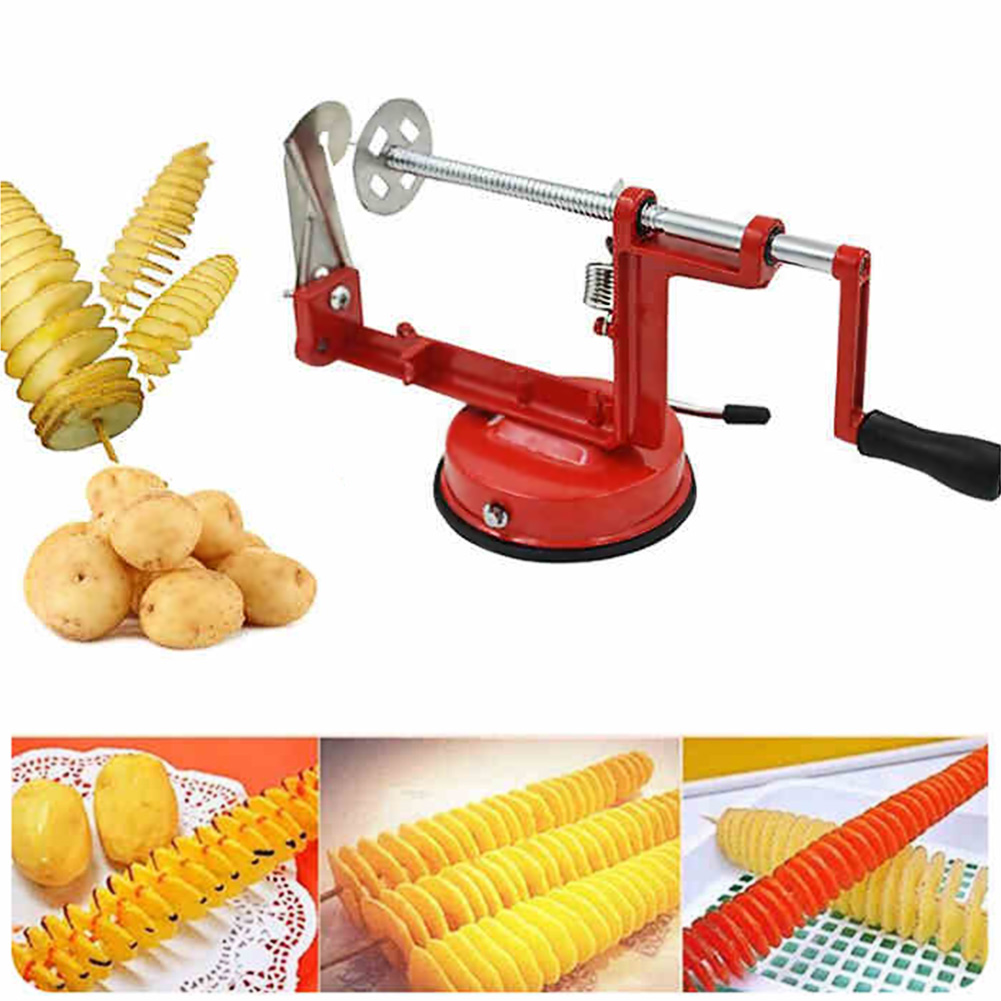 Rotating Manual Magic Roller Spiral Slicer Radish Potato Spiral Cutter