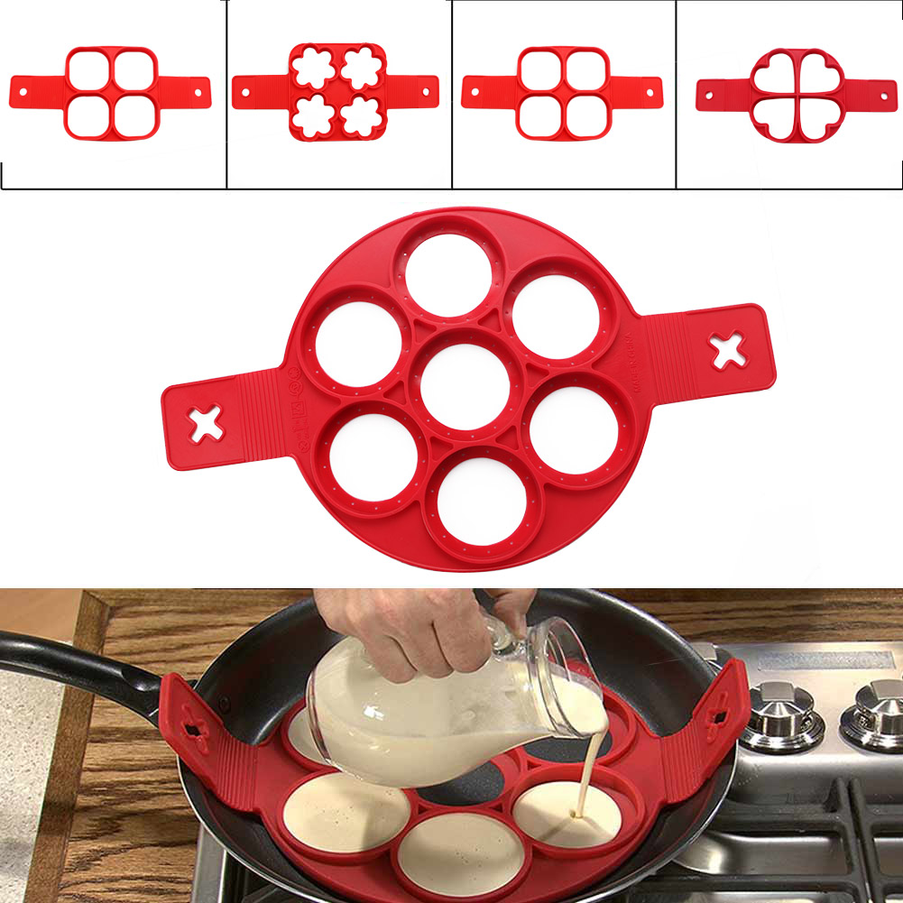 Nonstick Pancake Maker Silicone Egg Ring Maker Kitchen Perfect Omelette Tools