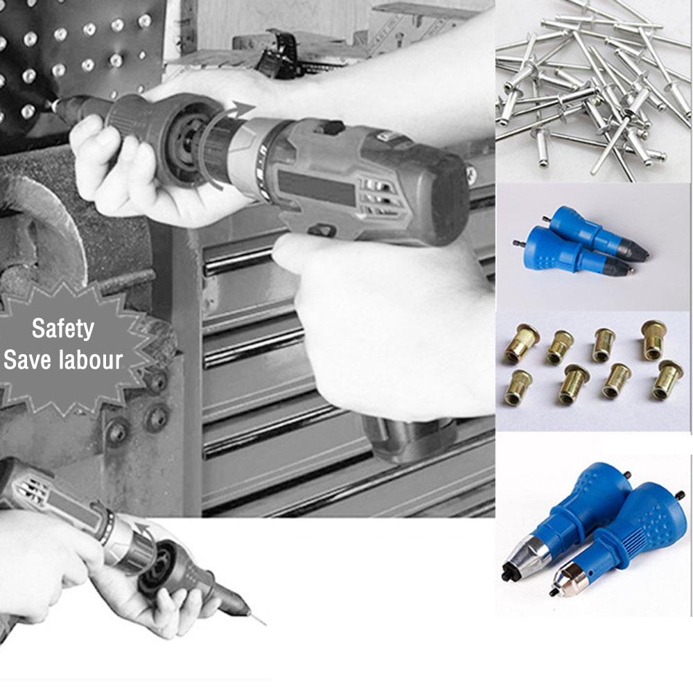 Electric Rivet Insert Nut Gun Cordless Riveting Tool Drill Adapter Tackle