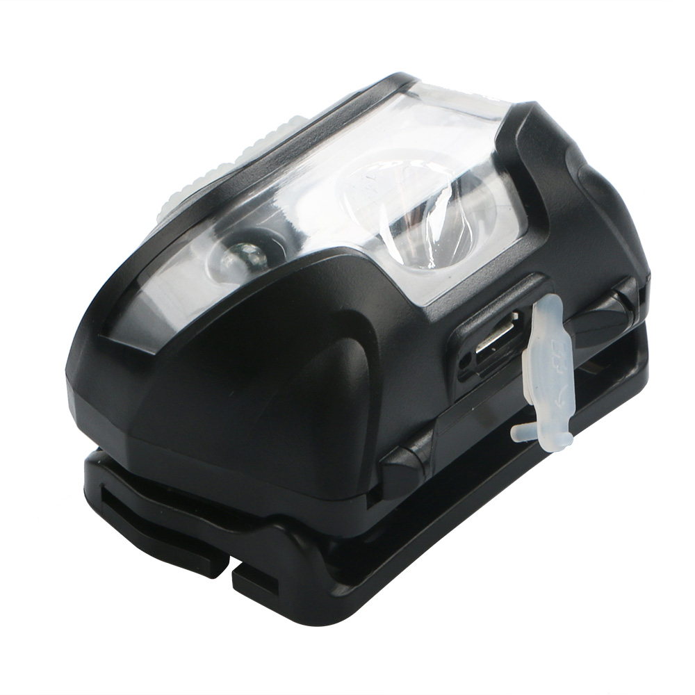 Wholesale 3000LM LED IR Sensor Headlamp USB Rechargeable Waterproof Camping Headlight