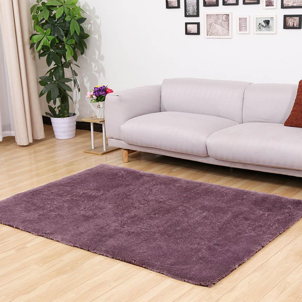 Silk Wool Plush Carpet Rug Non-slip Floor Mat LivingRoom Blanket GrayPurple