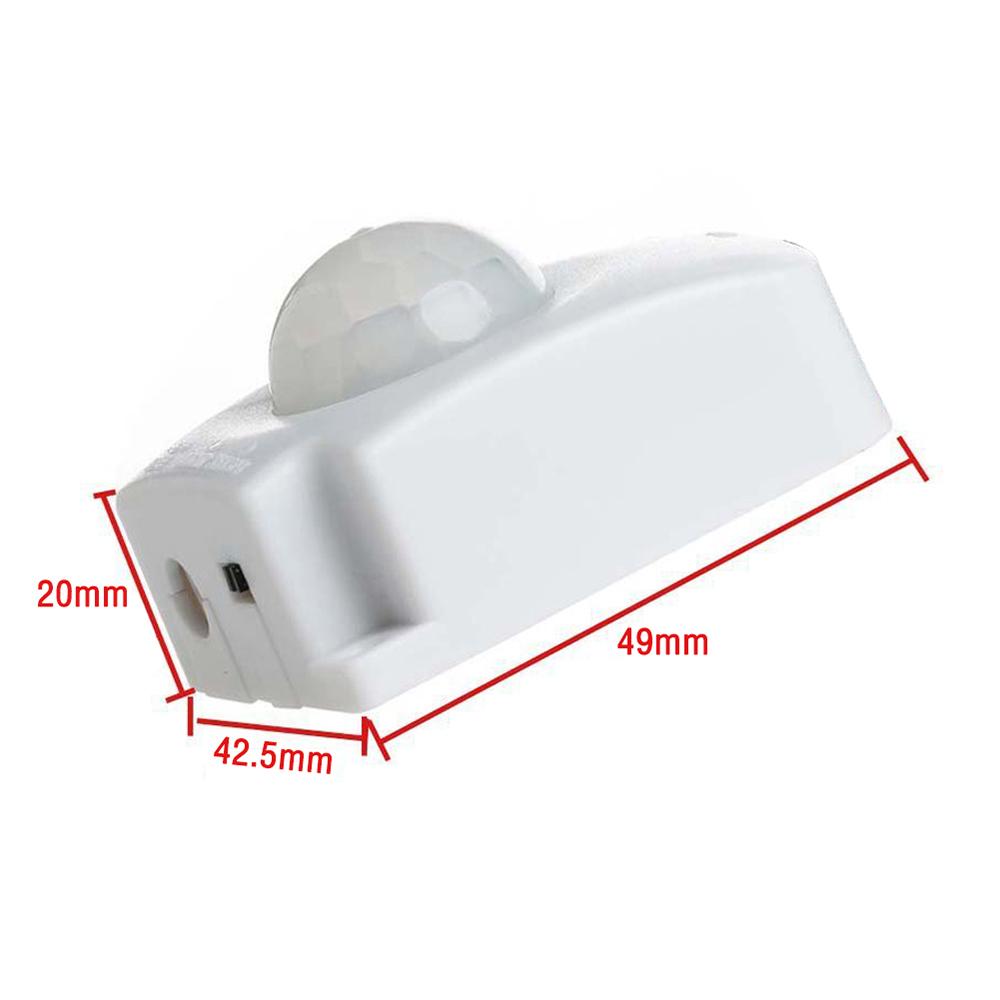 Mini Lichtsteuerungs Justierbarer LED PIR Infrarot Bewegungssensor Schalter NEU