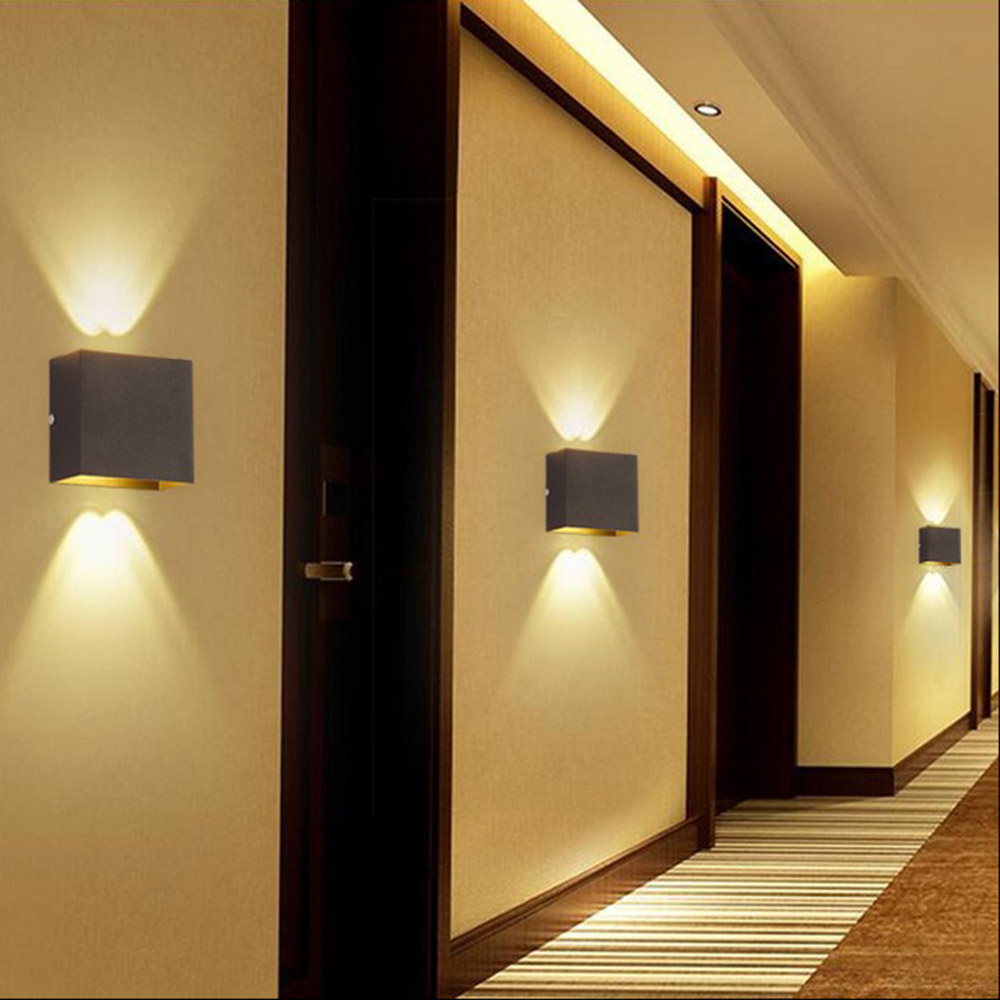 Contemporary Bedroom Wall Lights: Modern 6W LED Wall Light Up Down Lamp Sconce Spot Lighting