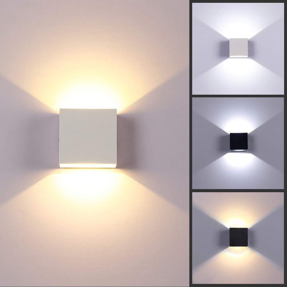 Modern 6w led wall light up down lamp sconce spot lighting for Contemporary wall light fixtures