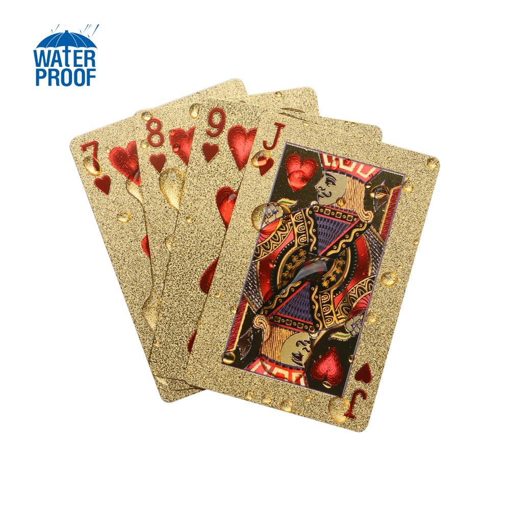 24K Waterproof Gold Foil Plated Pocker Playing Card Joker Gift Table Game