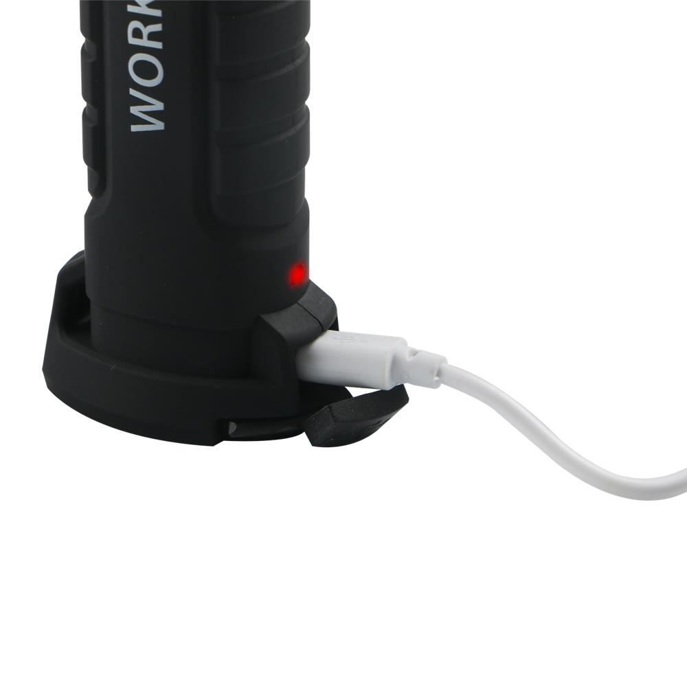 14.8x4.7cm Foldable USBRechargeable LED COB Work Light Hook LampFlashlight