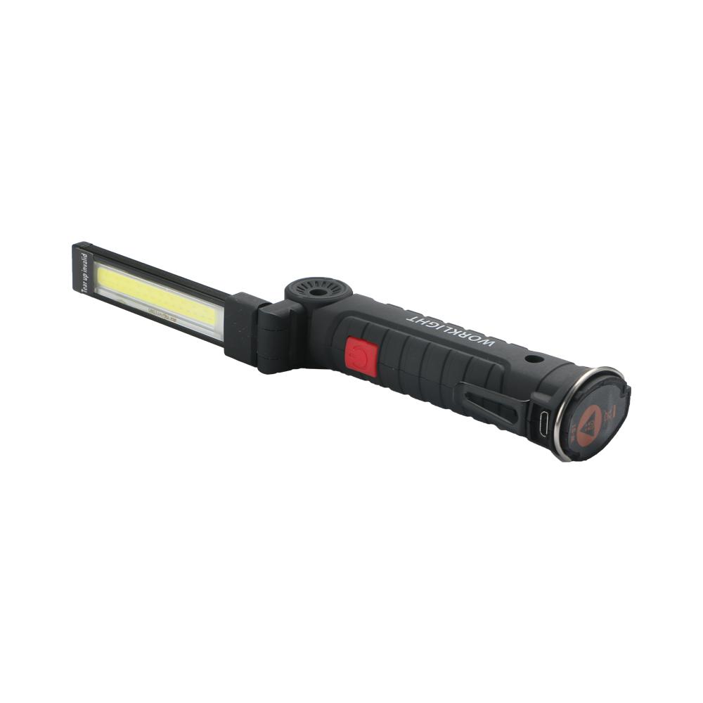 11x3.6cm Foldable USB Rechargeable LED COB Work Light Hook Lamp Flashlight