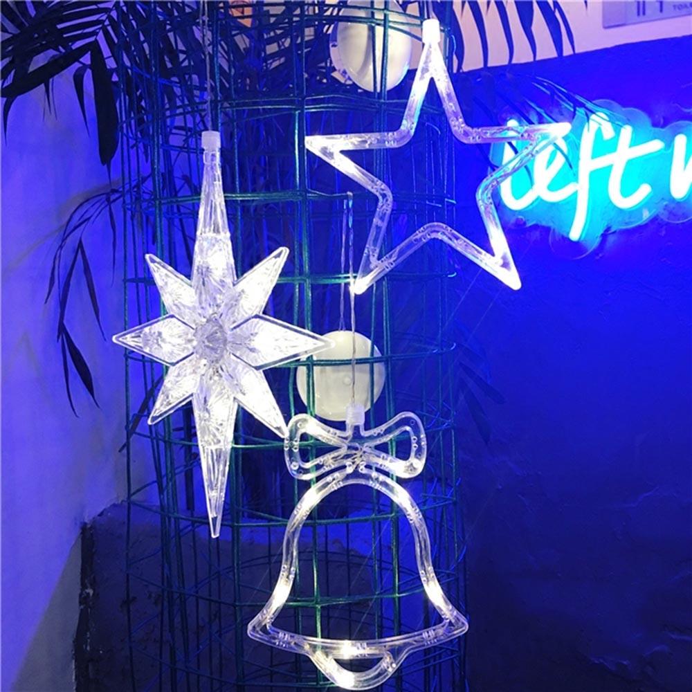 LED Stern Sucker Lichterkette Weihnachten Fenster Fensterdekoration ...