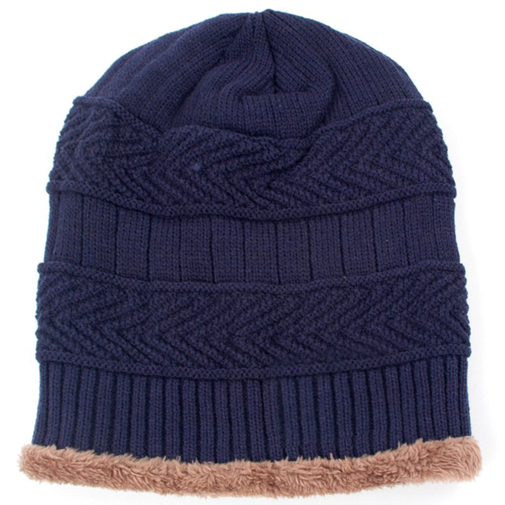 Unisex Winter Ski Camping Windproof Fleece Plush Thicken Warm Knit Hat Cap