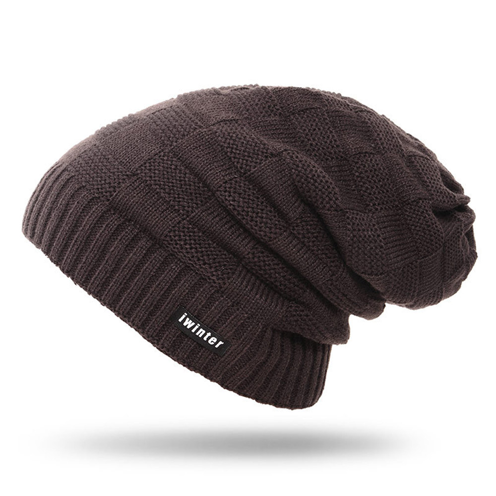 Unisex Winter Fashion Cozy Thicken Warm Plush Knit Hat Solid Beanie Cap