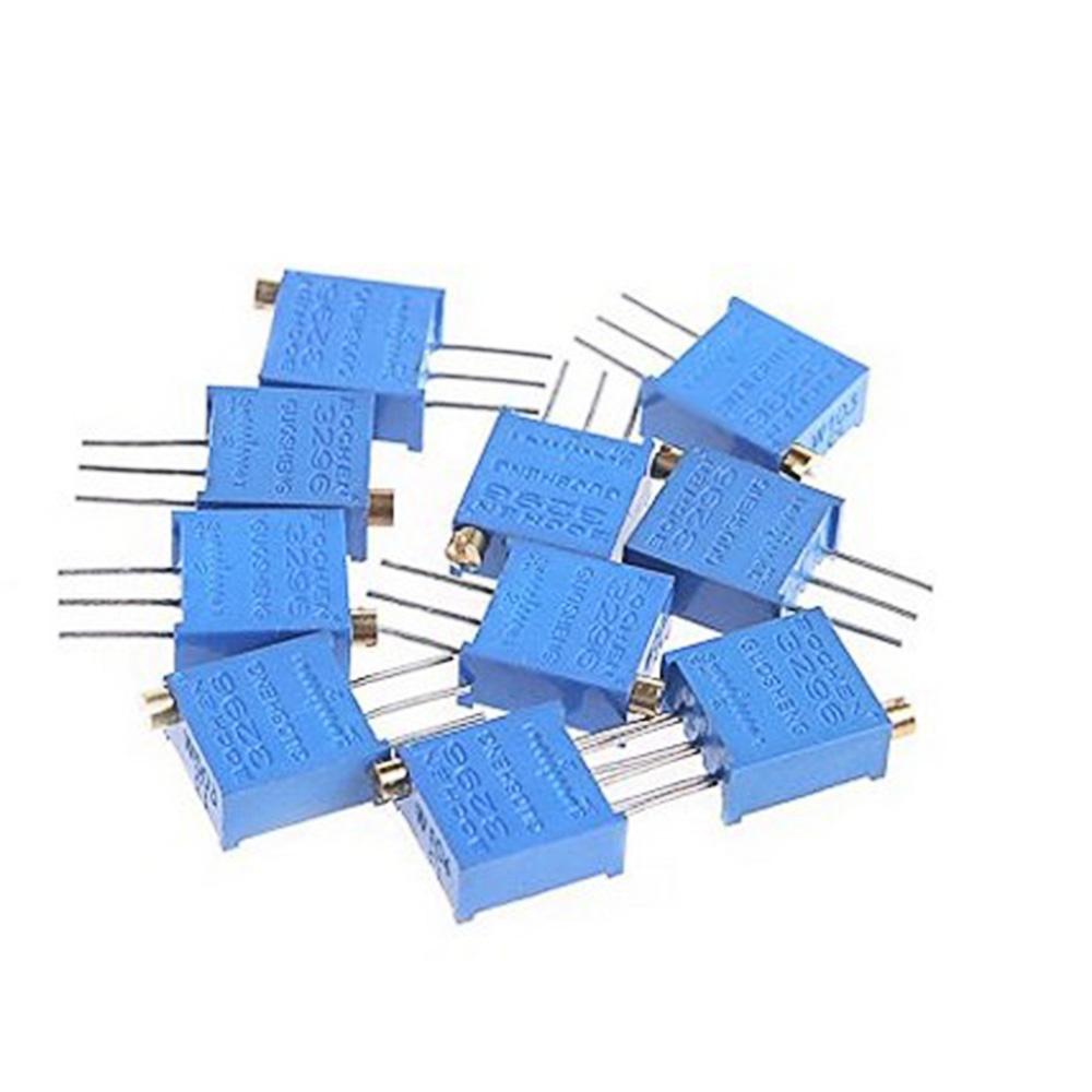 Portable 50pc 10Value 3296W Trimmer Trim Pot Variable Resistor Kit W/Box