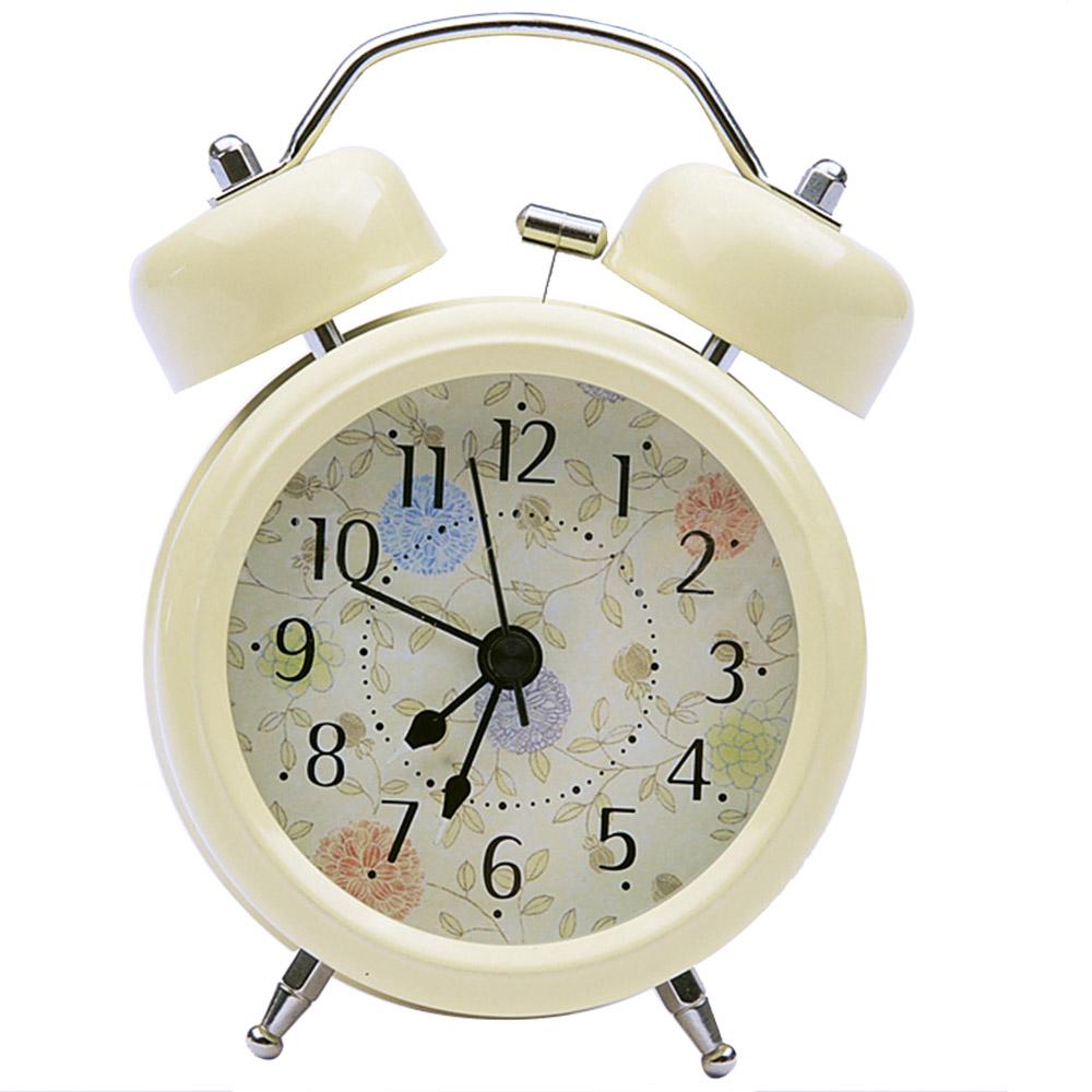 Unique Retro Baking Paint Mute Silent Bedside Desk Table Alarm Clock W/Backlight