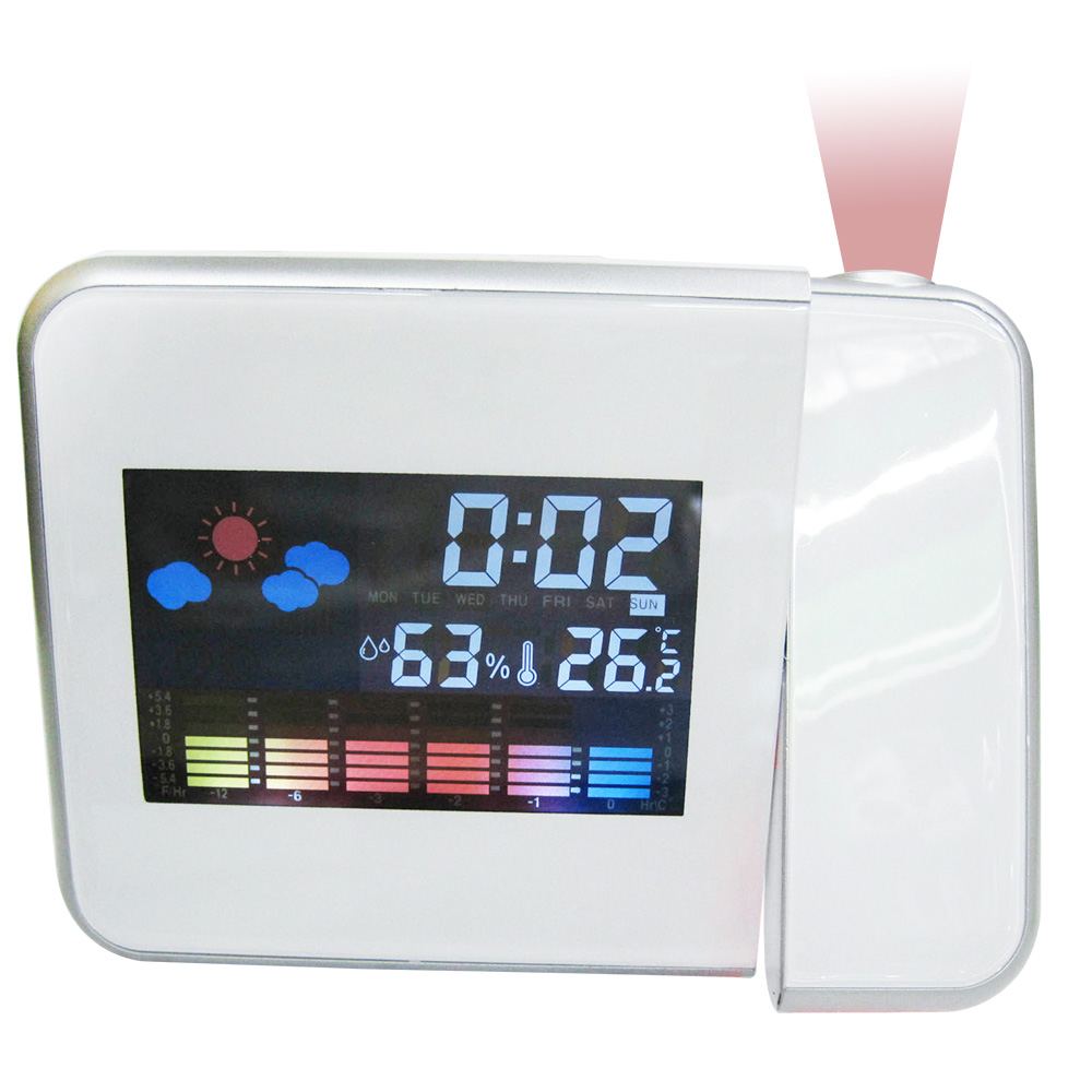 Details about Multifunction Digital LCD Alarm Clock Projector Desk Thermometer  Hygrometer NEW a331a859322f6
