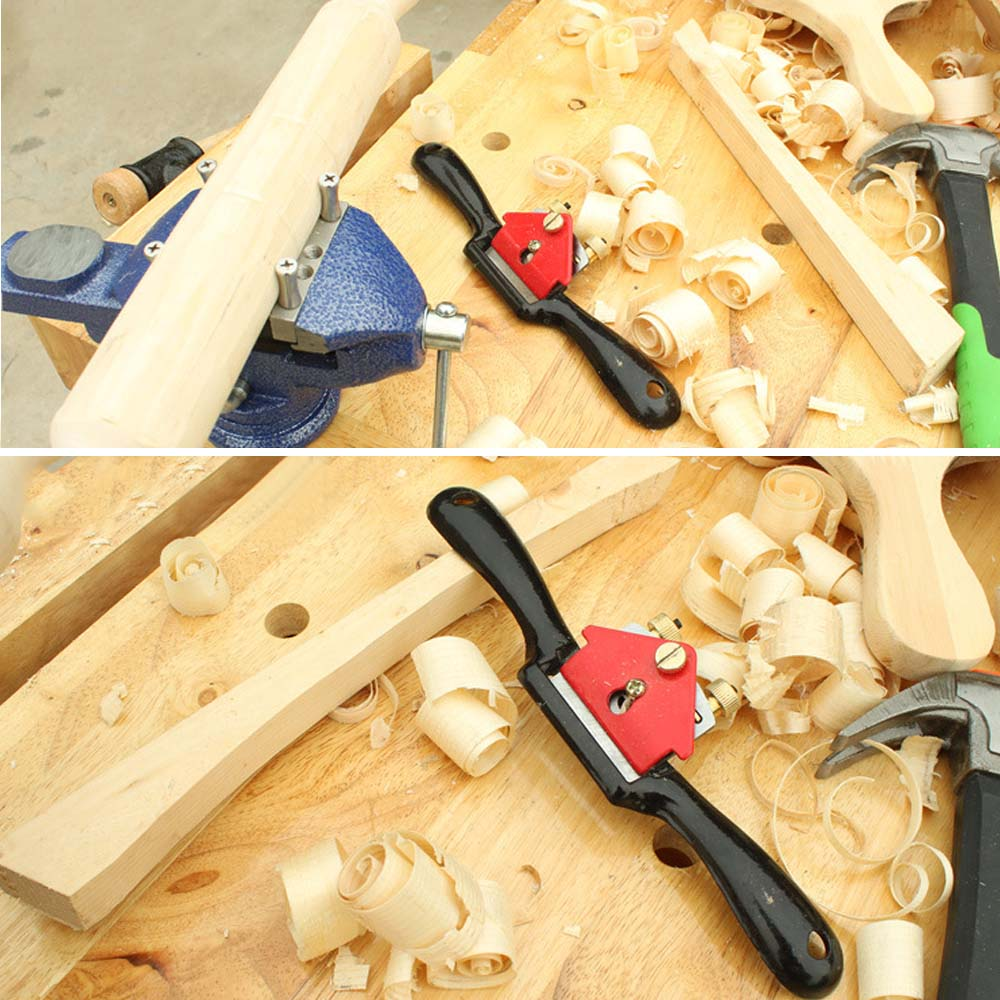 9Inch Adjustable Hand Planer Cut EdgePlaner Screw Spoke ShaveWoodwork Tool