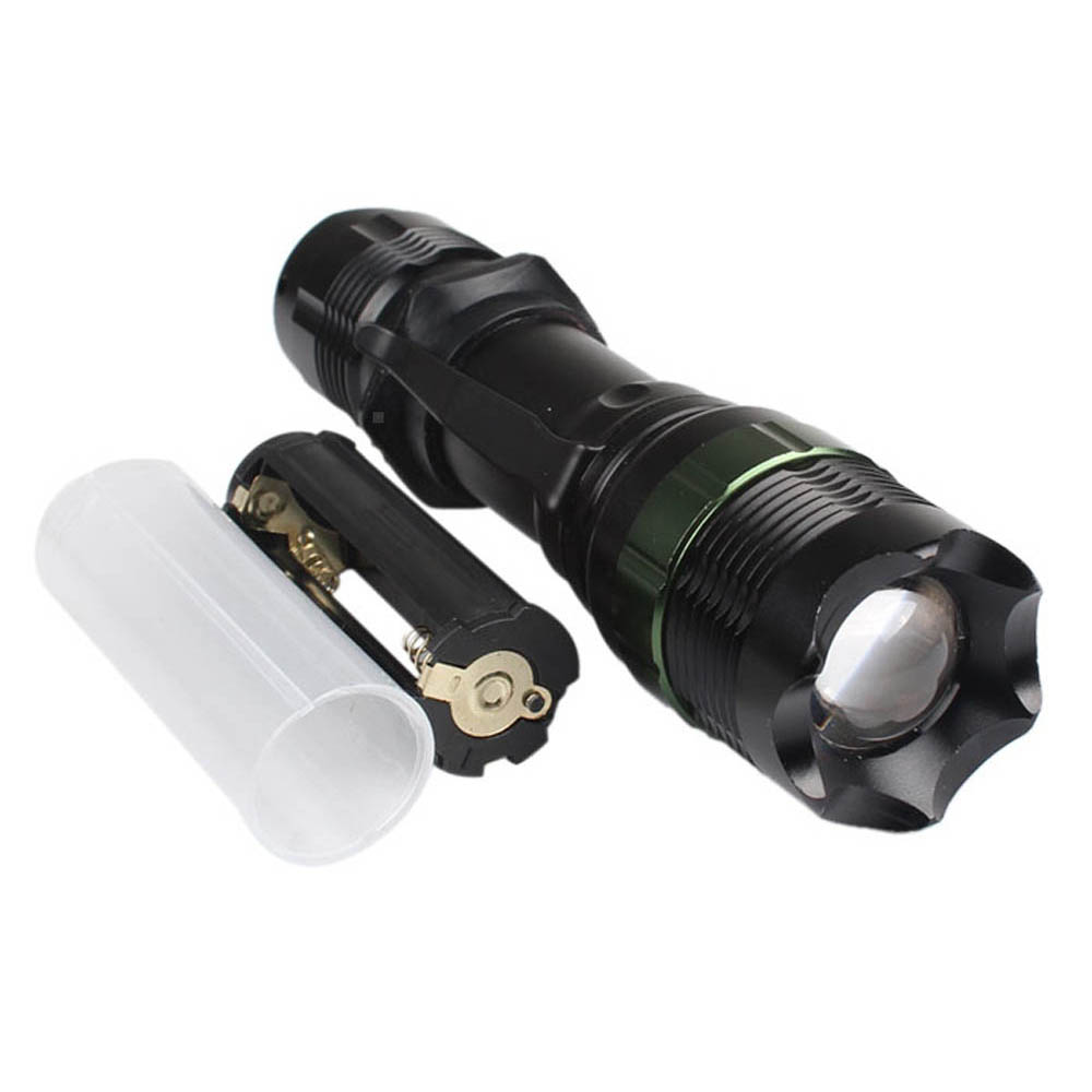 Portable 3000Lm 5modes Zoom Adjustable Focus T6 LED Flashlight Torch Lamp