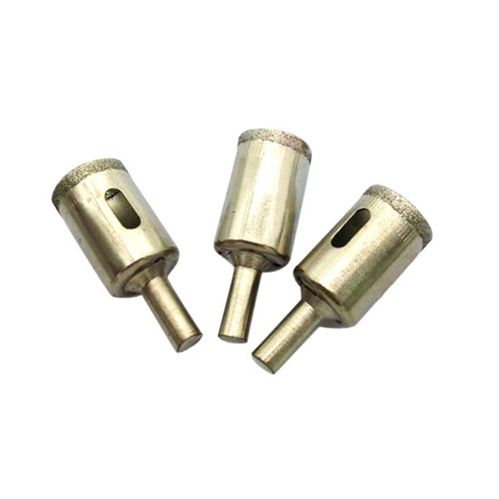 3PCS 20mm Diamond Coated Core Drill Drills Bit Glass Hole Saw Ceramic