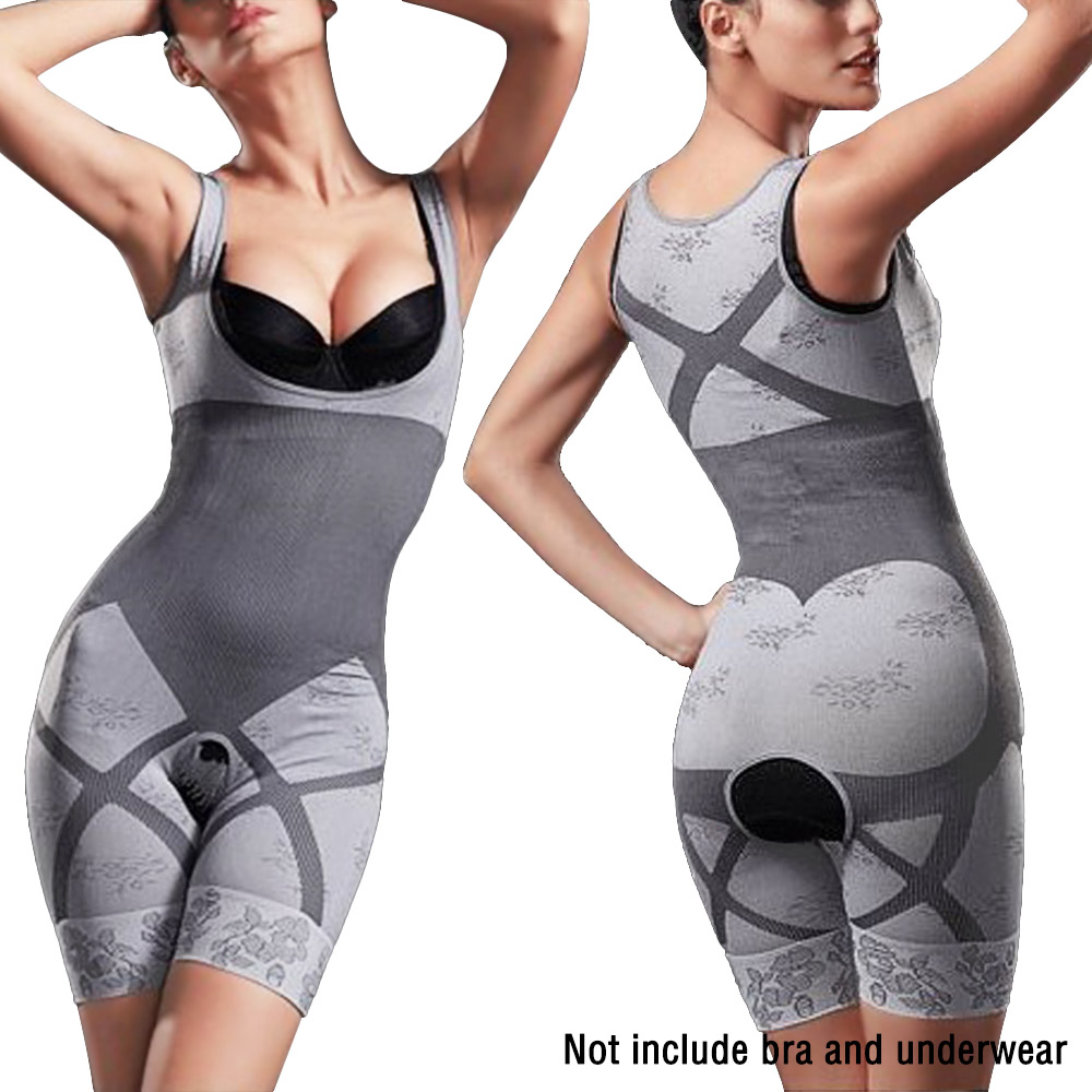Natural Bamboo Charcoal Full Body Shaper Underwear Slimming Suit Bodysuit. >