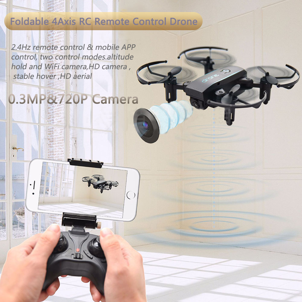 Well ABS Foldable 4Axis RC Remote Control Drone Wifi FPV Helicopter W//720P C #ur