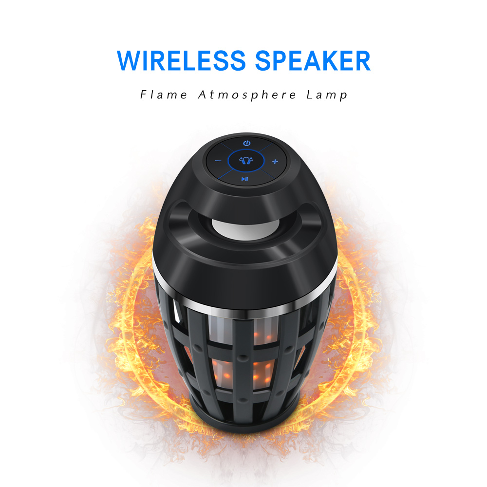 Wireless Bluetooth Flame Atmosphere LED Torch Flickering Flame Night Light Lamp