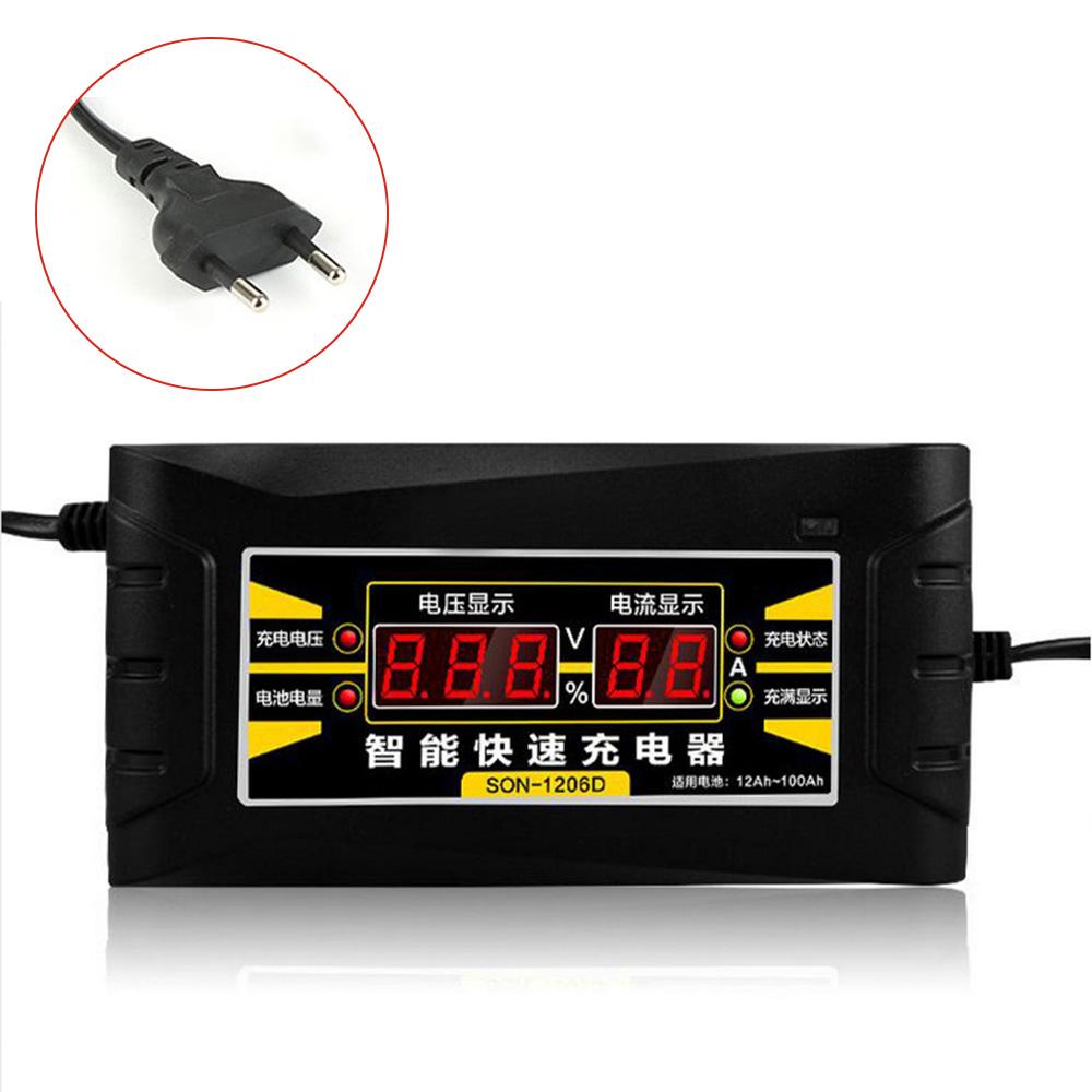 12v 6a smart fast batterie ladeger t eu stecker f r auto. Black Bedroom Furniture Sets. Home Design Ideas