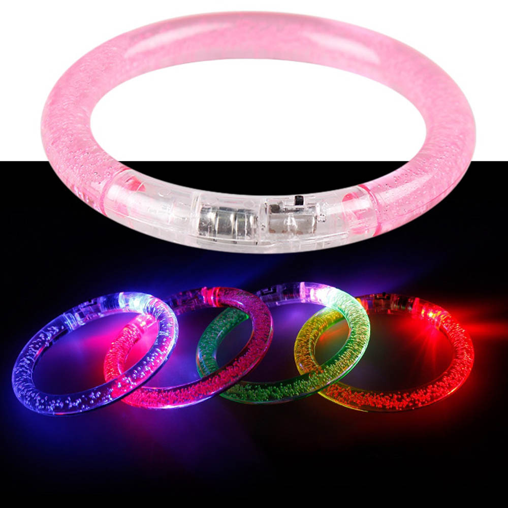 LED Fluorescence Bracelets Electronic Lights Glow Light Up Bangle 6PCS