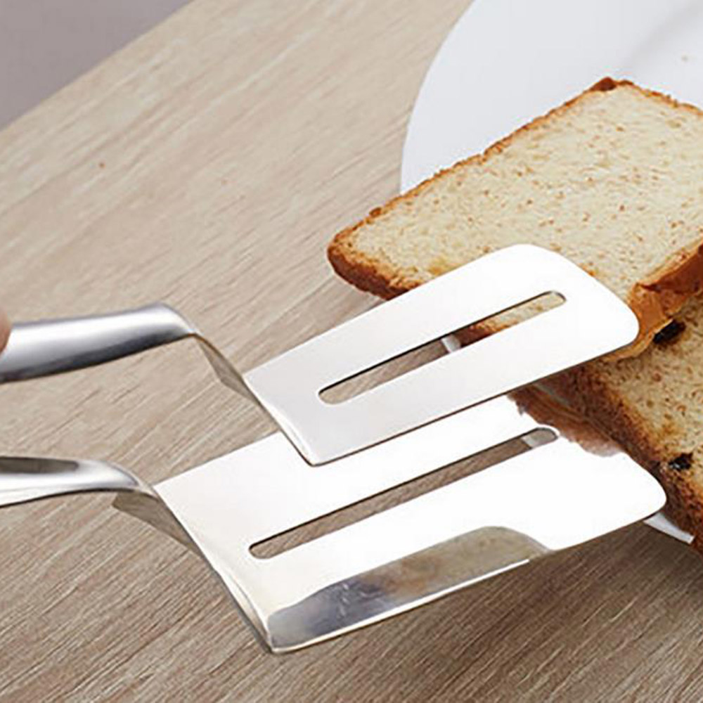 Stainless Steel Barbecue BBQ Tong Meat Bread Food Clamp Shovel Spatula