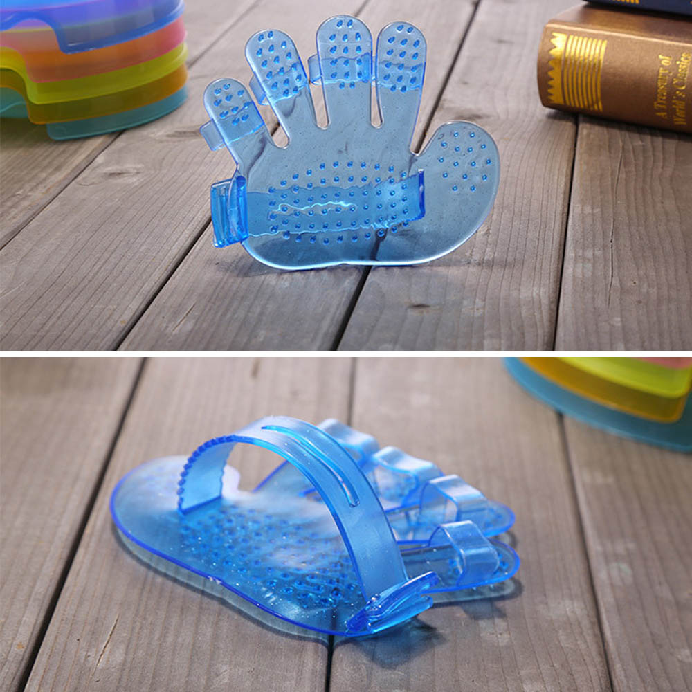 5Finger Pet Cat Dog Grooming Cleaning Glove Hair Removal Massage Comb Brush