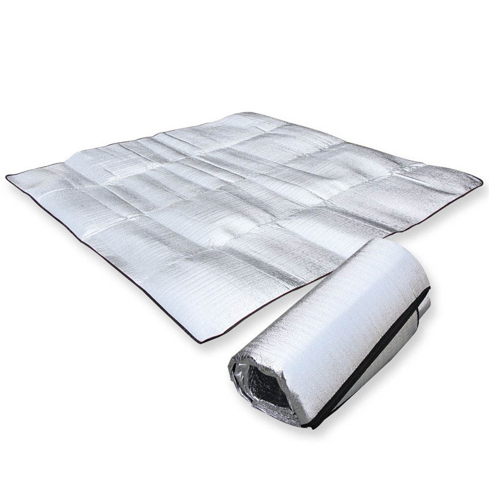 Hot Camping Waterproof double-sided Aluminum Foil Cushion Thicken Tent Pad