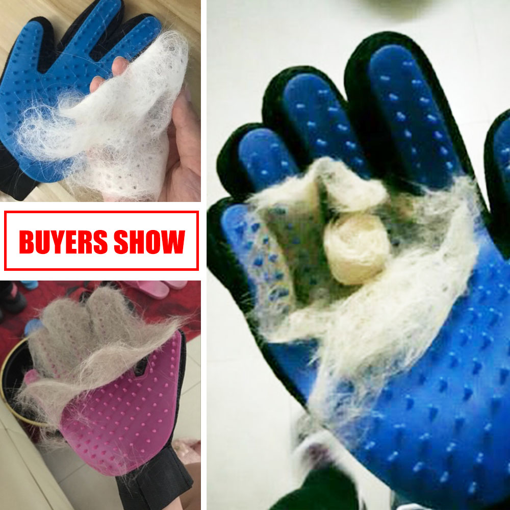 Pet Dog Grooming Cleaning Glove Deshedding Right Handed Hair Removal Brush