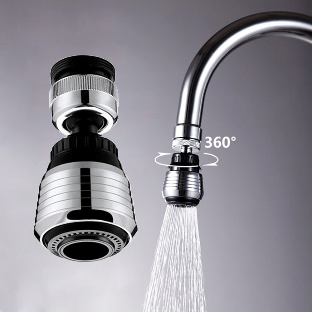 Water Saving Tap Aerator Diffuser 360 Rotate Swivel Faucet Nozzle Filter Adapter