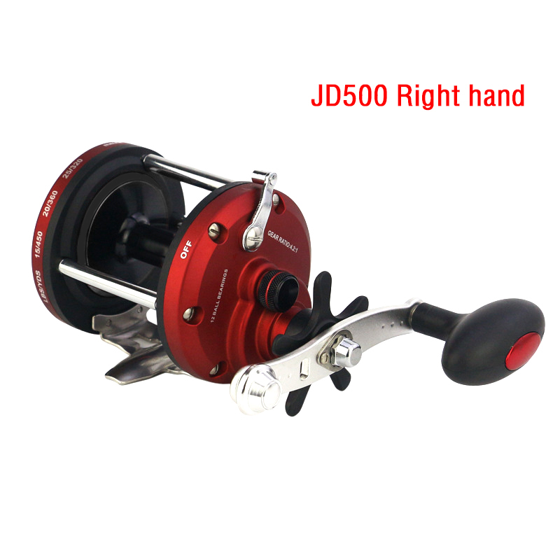 12BB Ball Bearing Bait Metal Casting JD Drum Boat Sea Fishing Reel Wheel