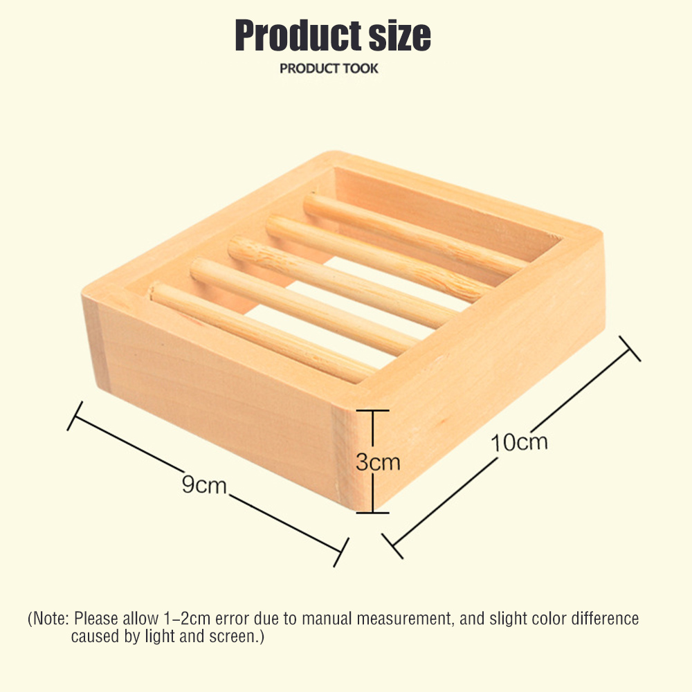 Novelty Hollow-out Rectangular Wooden Soap Saver Holder Box Tray Organizer