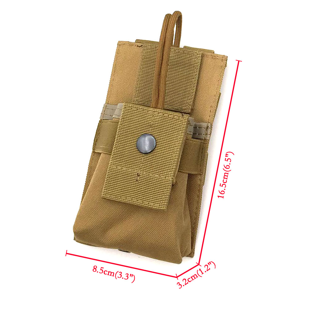 Adjustable Radio Holder Tactical Military Holster Open Top Waist Pouch