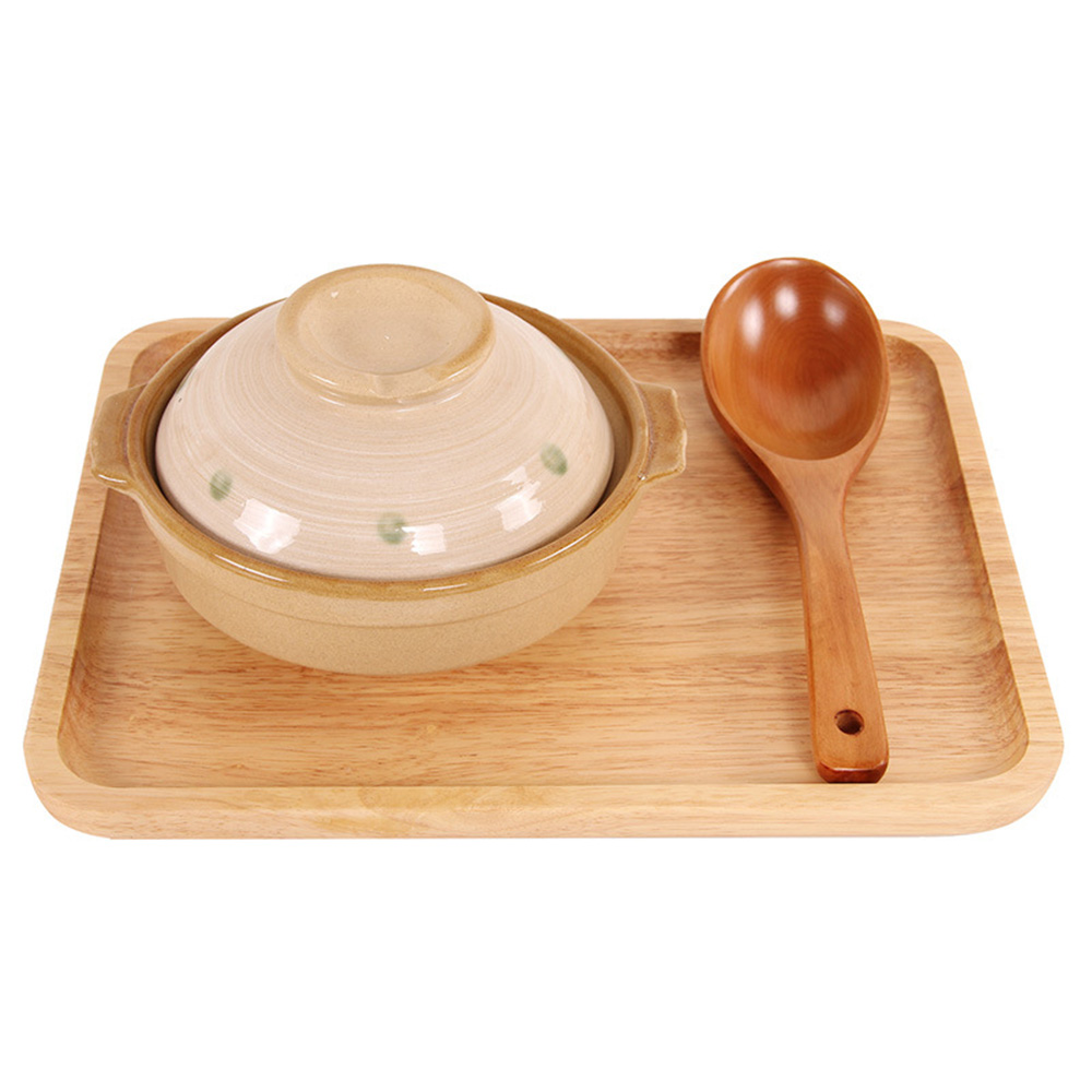 Natural Wood Reusable Eco-friendly Spoon Ladle Tableware Flatware Utensil