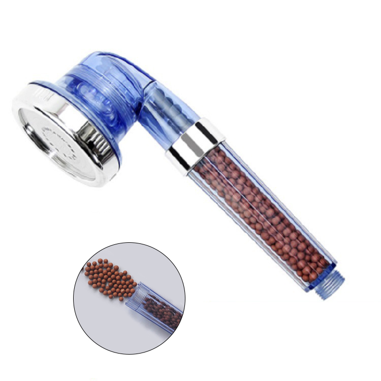 3Mode Adjustable Blue Anion SPA Massage Bathroom Shower Sprayer Head Filter