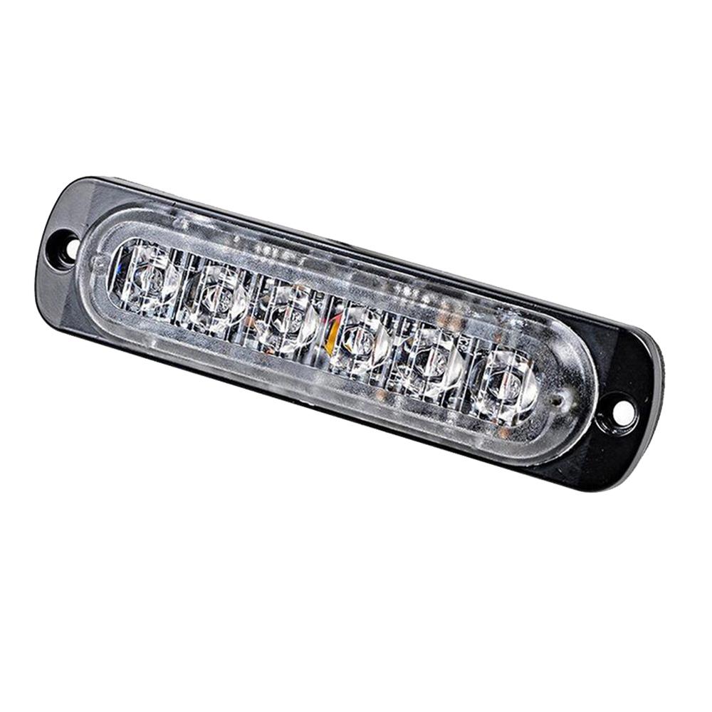 6-LED-Light-Bar-Flash-Emergency-Car-Vehicle-Warning-Strobe-Flashing-Amber-Yellow