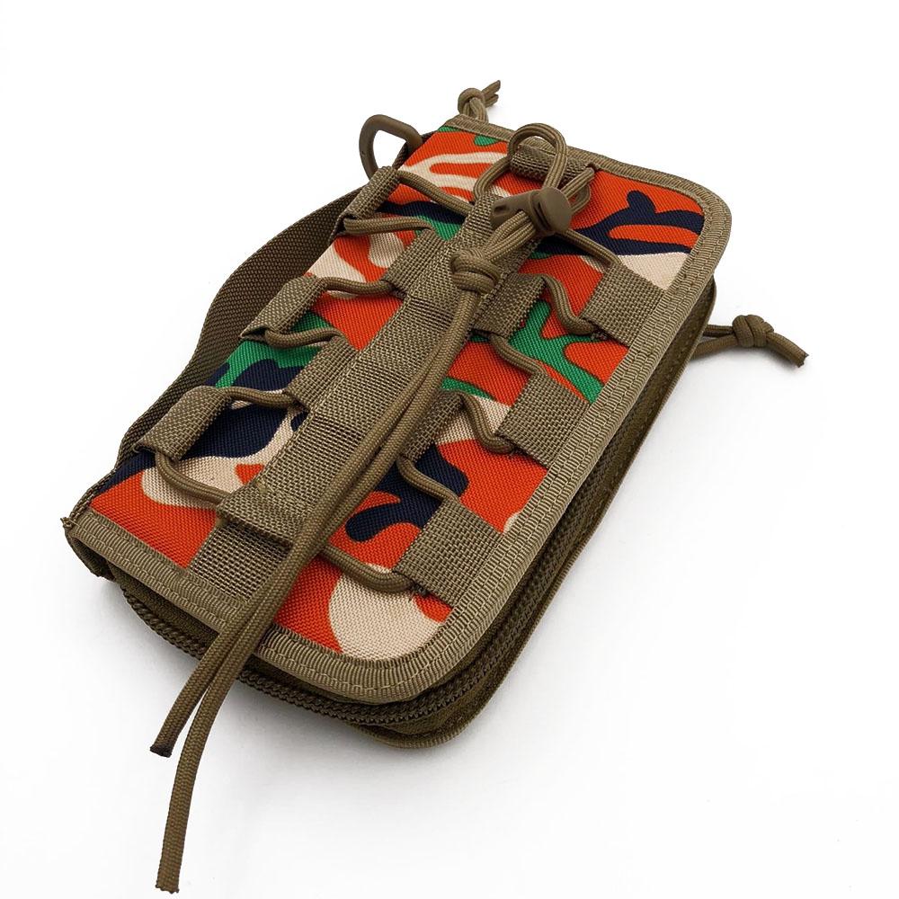 Multifunction 3Layer Portable Nylon Fabric Purse Money Wallet Handbag Pouch