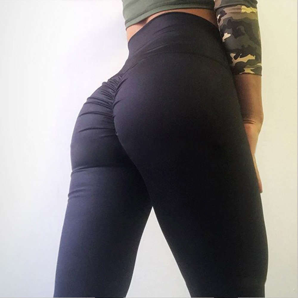 8ccf3c9da9 Details about High Waist Butt Lift Slim Fit Yoga Fitness Tight Leggings  Pants Trousers New