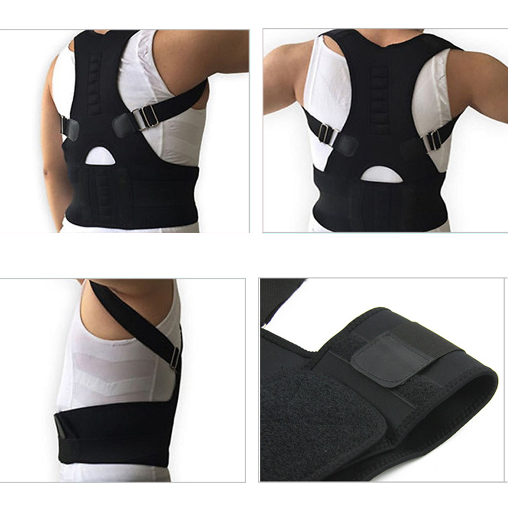 Unisex Adjustable MagneticSpine ShoulderBack Posture CorrectionSupport Belt