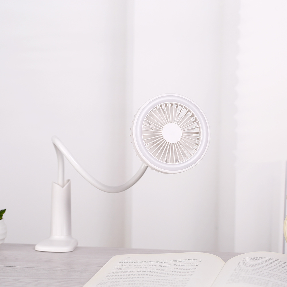 2in1 Multifunction Mini 360�Flexi Clip-on Fan Table Desk Nightlight Lamp