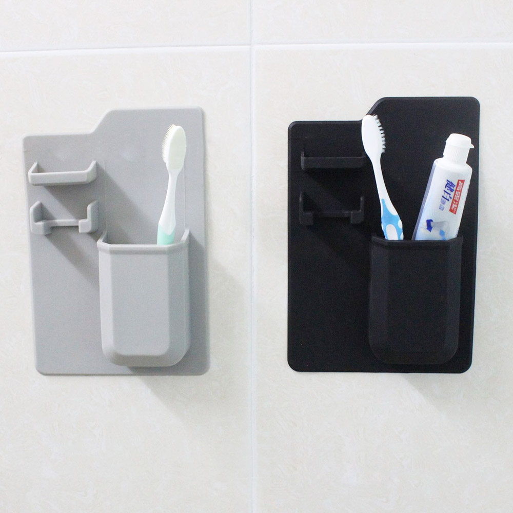 Home Silicone Toothbrush Razor Holder Mirror Bathroom