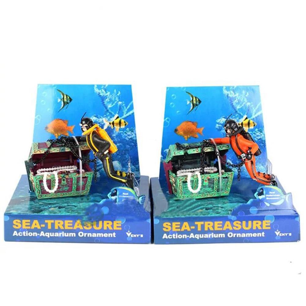 TreasureHunter DiverAction Figure FishTank Ornament AquariumLandscape Decor