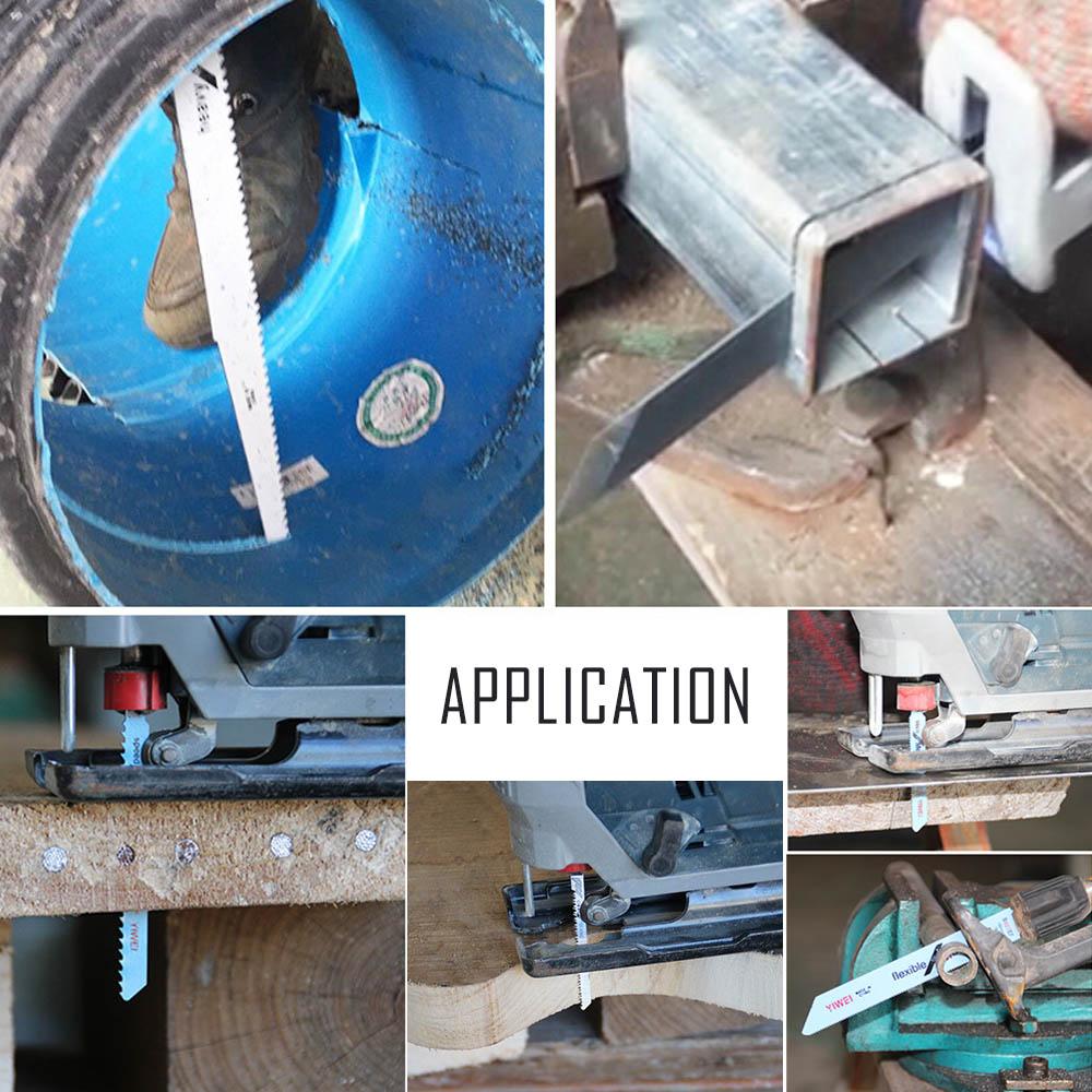 5pc/Set T244D 74mm Steel Reciprocate Jig Saw Blade for Wood PVC Fireboard