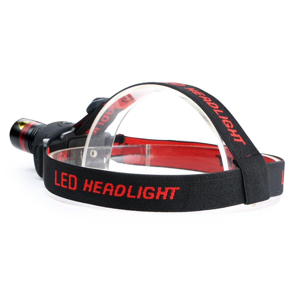 1000Lumens Q5 LED Zoom Adjustable Flashlight Head Torch Light Lamp
